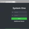 eBiss Web UI login screen